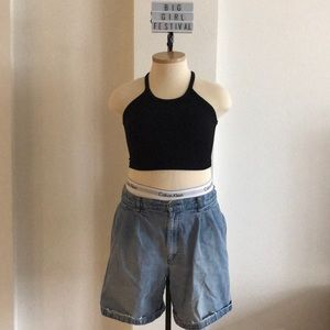 Pants - 🍒VINTAGE🍒 Preppy Mom Denim Shorts 36 inch waist